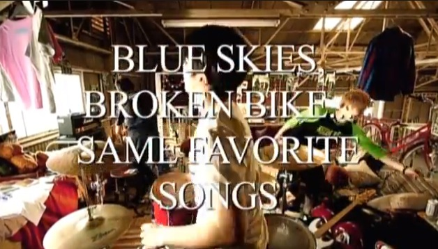 BLUE SKIES, BROKEN BIKE...SAME FAVORITE SONGS